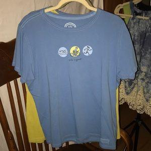 NEW! Life is Good - Super Cute Triathlete T-Shirt